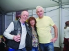 At the marquee were (L-R) Brendan O'Neill, Marie O'Neill and Aidan McKenna. ©Rory Geary/The Northern Standard