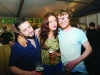 At the marquee were (L-R) Christopher Treanor, Grace Cotter and Karl Deery. ©Rory Geary/The Northern Standard